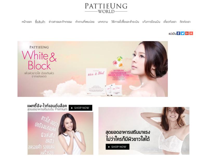 Pattieung World งานพัฒนาเว็บไซต์
